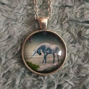 Unicorn Cabochon Necklace